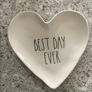 Rae Dunn Best Day Ever Heart Shaped Plate